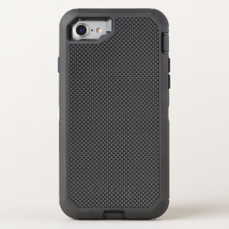 Polímero negro y gris de la fibra de carbono funda OtterBox defender para iPhone 7