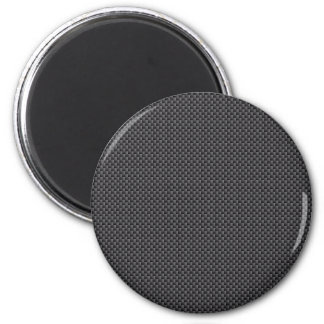 Polímero negro y gris de la fibra de carbono imán redondo 5 cm