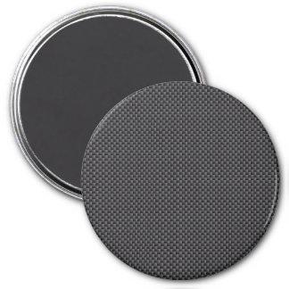 Polímero negro y gris de la fibra de carbono imán redondo 7 cm