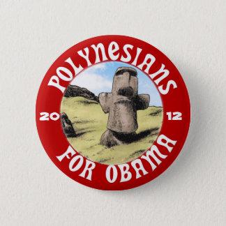 Polinesios para Obama Chapa Redonda De 5 Cm