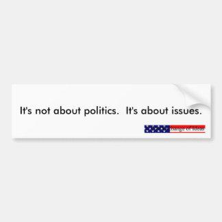 Política contra los problemas pegatina para el pa pegatina de parachoque