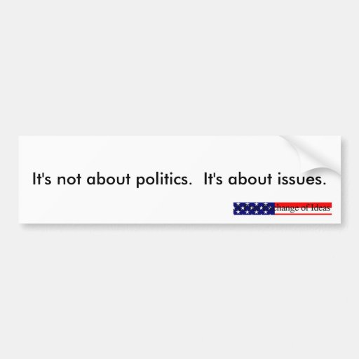Política contra los problemas (pegatina para el pa pegatina de parachoque