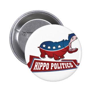 Política del hipopótamo pins