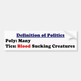 política etiqueta de parachoque