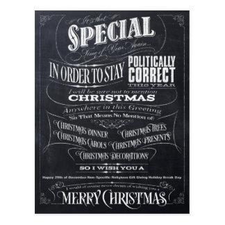 Político tarjeta de Navidad correcta divertida de