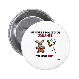 Políticos del EL P2P y los… Chapa Redonda 5 Cm