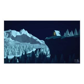 polivinílico bajo - noche de la cabina del fotografias