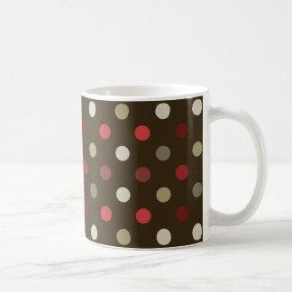 Polk-uno-punto rojo y blanco de la frente taza de café