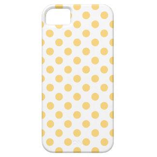 Polkadots amarillos funda para iPhone SE/5/5s