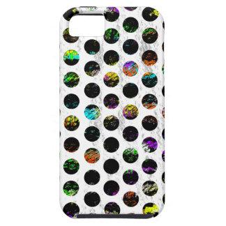 Polkadots apenado colorido funda para iPhone SE/5/5s