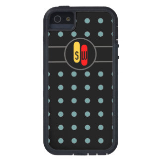 polkadots y sus iniciales iPhone 5 cárcasa