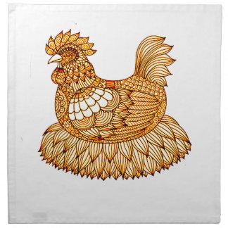 Pollo 2 servilleta de tela