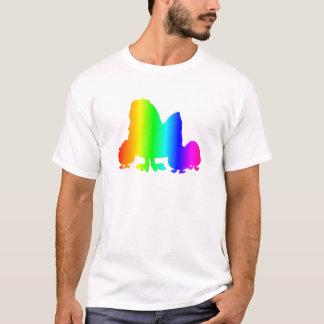 Pollo 3 del arco iris camiseta