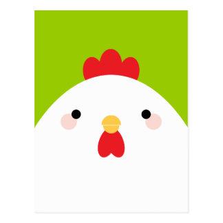 Pollo blanco en las postales verdes