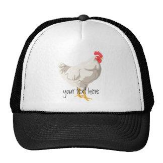 Pollo blanco gorras de camionero