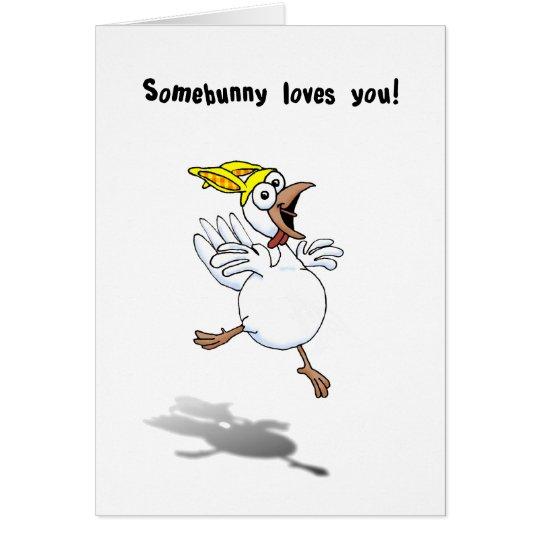 ¡Pollo de la tarjeta del día de San Valentín con
