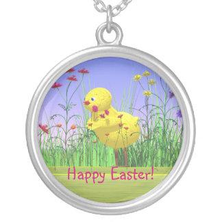 Pollo de Pascua de la primavera Collar