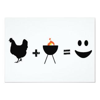 Pollo del Bbq feliz Invitación 12,7 X 17,8 Cm