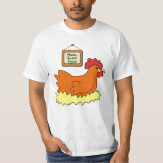 Pollo del dibujo animado en hogar del dulce del camiseta