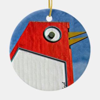 Pollo grande, Marietta, Georgia, navidad Adorno Navideño Redondo De Cerámica