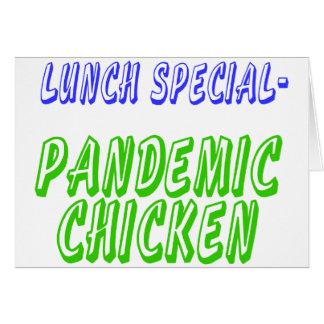 Pollo pandémico especial del almuerzo H5N1 Tarjeta De Felicitación
