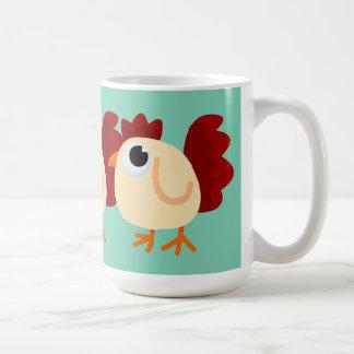 Pollo poco taza de café