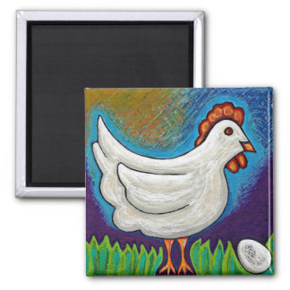 Pollo y el imán del huevo