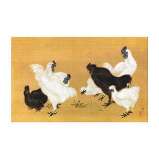 Pollos de Mori Sosen Silkies Impresión En Lienzo