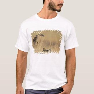 Pollos de pradera masculinos en los leks en el camiseta
