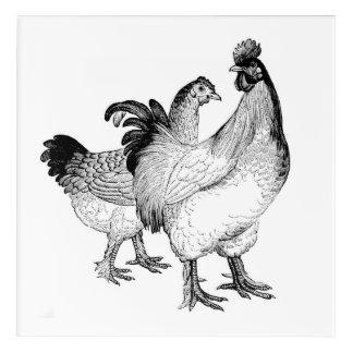 ¡Pollos elegantes! Decoración quebradiza, limpia