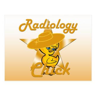 Polluelo #10 de la radiología postal