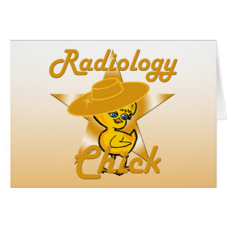 Polluelo #10 de la radiología tarjeta de felicitación