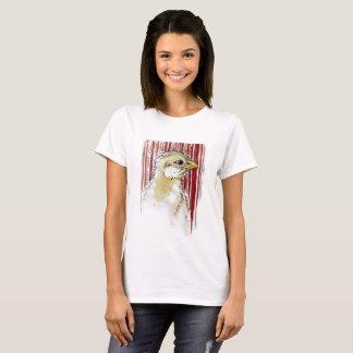 Polluelo con la camiseta sangrienta del diseño del