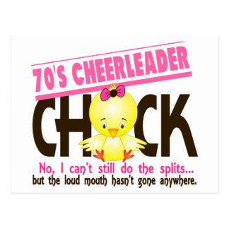 polluelo de la animadora de los años 70 postal