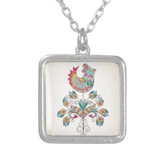 polluelo de la Boho-moda en la flor Colgante Cuadrado