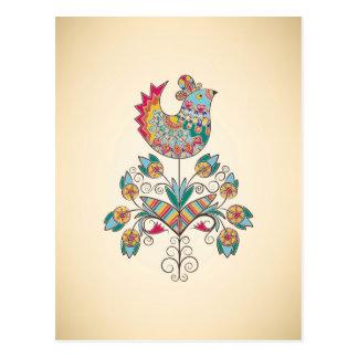polluelo de la Boho-moda en la flor Postal