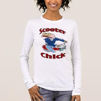 Polluelo de la vespa camiseta de manga larga