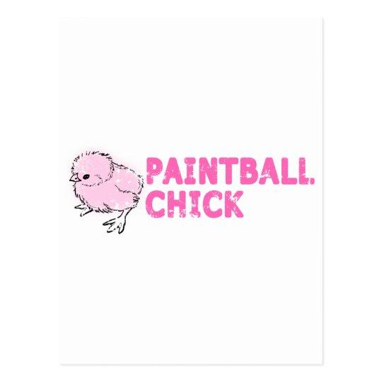 Polluelo de Paintball Postal