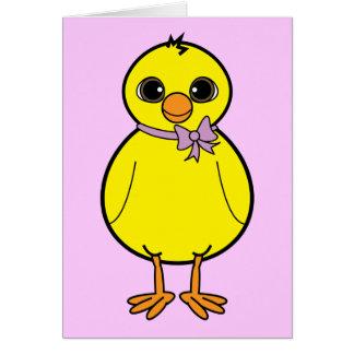 Polluelo de Pascua de la nota de agradecimiento Tarjetón