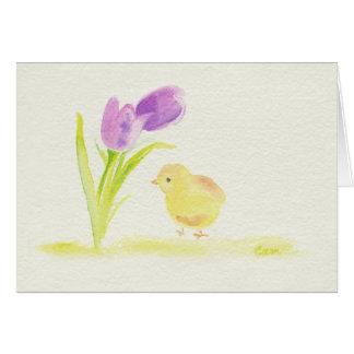 Polluelo de Pascua Tarjeta