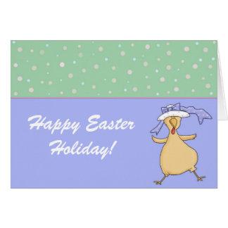 Polluelo de Pascua - tarjeta de felicitación feliz
