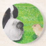 Polluelo de St Bernard y del bebé Posavasos Manualidades