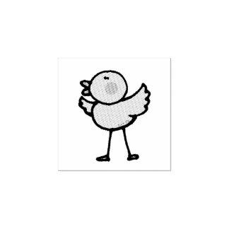 polluelo del bebé del dibujo animado sello de caucho