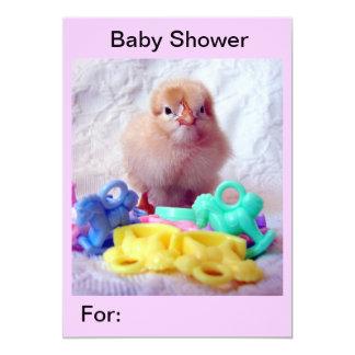 Polluelo del bebé, fiesta de bienvenida al bebé invitación 12,7 x 17,8 cm