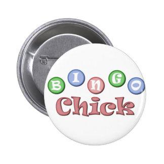 Polluelo del bingo chapa redonda de 5 cm