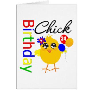 Polluelo del cumpleaños 34 años felicitación