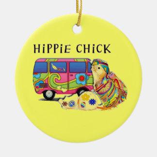 Polluelo del Hippie Ornamentos De Reyes