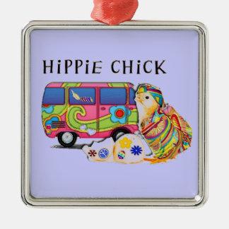 Polluelo del Hippie Ornaments Para Arbol De Navidad