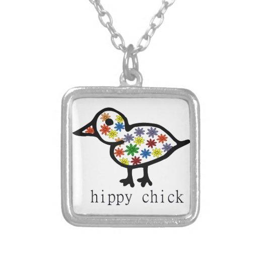 Polluelo del hippy colgantes personalizados