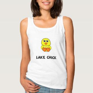 Polluelo del lago camiseta con tirantes